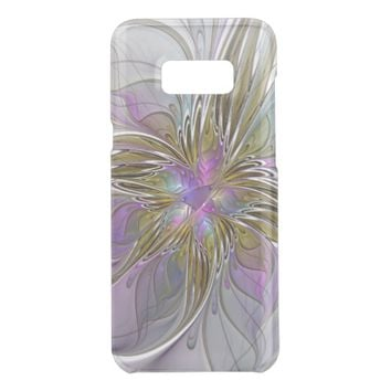 Floral Colorful Abstract Fractal With Pink & Gold Get Uncommon Samsung Galaxy S8 Plus Case