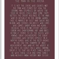 The Man In The Arena by Theodore Roosevelt 3 #minimalism by Andrea Anderegg Photography