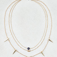 AEO Spike Charms Collar Necklace, Gold