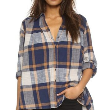 Peppy in Plaid Button Down