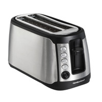 Long Slot 4 Slice Toaster Stainless Steel Small Kitchen Appliance