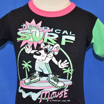 80s Tropical Surf Mouse Neon t-shirt Toddler 4T