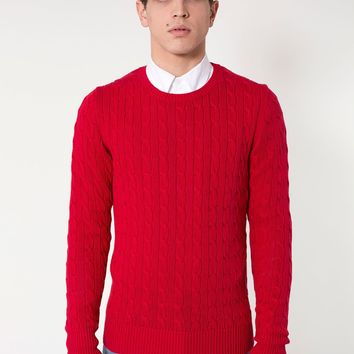 rsakwmcc - Mens Cable Knit Sweater