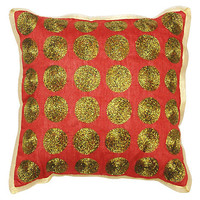 Shimmer Medallion 12x12 Pillow, Red