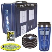 Doctor Who TARDIS Tin Tote Gift Set - SDCC Exclusive - Bif Bang Pow! - Doctor Who - Lunch Boxes at Entertainment Earth