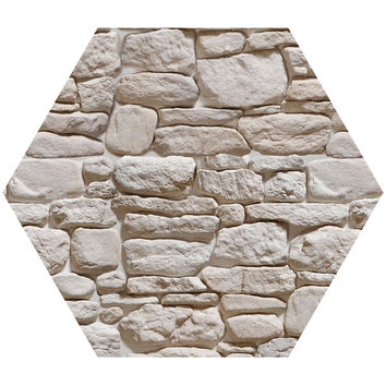 3D Stone III Hex Wall Decal