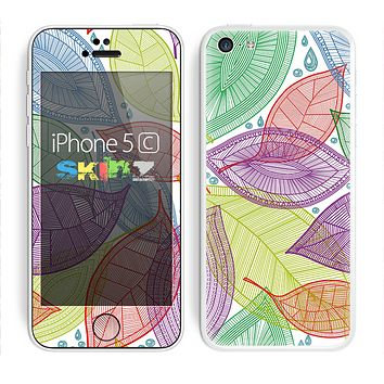 The Seamless Color Leaves Skin for the Apple iPhone 5c