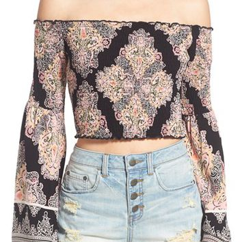 Band of Gypsies Paisley Print Off the Shoulder Top | Nordstrom