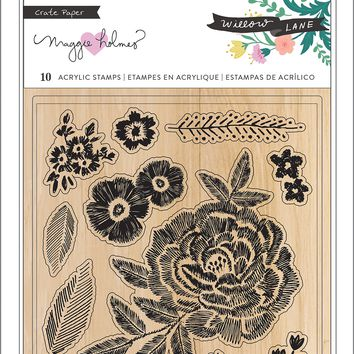 Maggie Holmes Willow Lane Clear Stamps 10/Pkg-