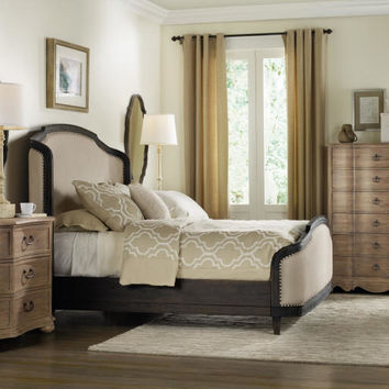 Corsica Queen Shelter Bed in Dark Espresso Finish