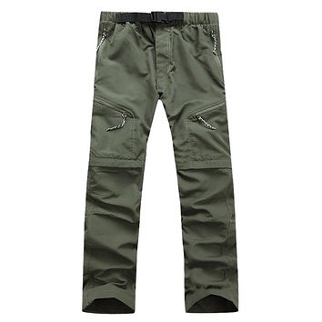 Summer Detachable Quick Dry Men Pants Waterproof Military Active Multifunction Trousers Pockets Mens Casual Cargo Pants