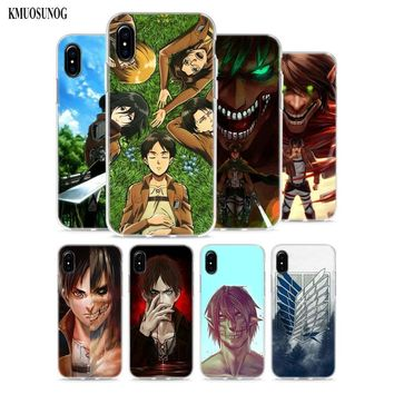 Cool Attack on Titan Transparent Soft Silicone Phone Cases  Naruto  Emblem Style for Apple iPhone X 8 7 6 6s Plus 5 5S AT_90_11