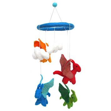 Flying Dragons Felt Mobile - Fair Trade