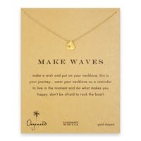 make waves reminder necklace with gold dipped smooth sailboat : Dogeared Jewels and Gifts