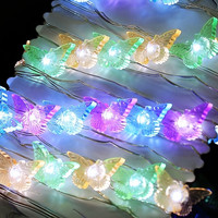 3M 40 LED Copper Wire String Light Butterfly Battery Power Party Christmas Decor Light With Remote Control