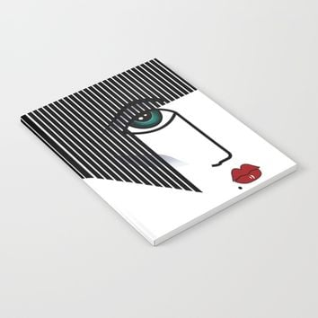 Retro Girl Notebook by Salome