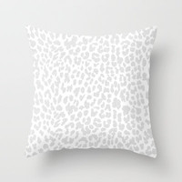 Snow Leopard Throw Pillow by M Studio
