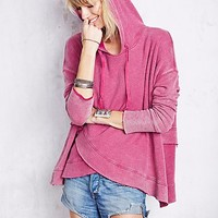 Free People Womens Sunset Surplice Hoodie