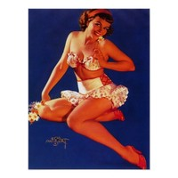 Zoe Mozert Pin Up Model Vintage Art (Poster)