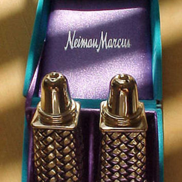 Fashionisto Montrose Partial Cost To Send Godinger Silver Art Neiman Marcus Salt Pepper Shakers Vtg Never used