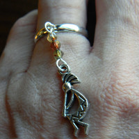 Native Inspired Kokopelli Flute Dancer Charm Ring