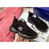 Champion 93Eighteen Tide brand classic big C embroidery logo men and women sports shoes Black
