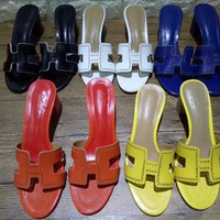 Hermes Fashionable casual slippers-1