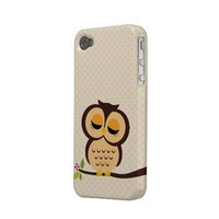 Cute Orange Owl Case for the iPhone 4 Case-mate Iphone 4 Cases from Zazzle.com