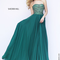 Sherri Hill 11179 Long Beaded Chiffon Sale Prom Dress