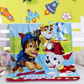 Good Quailty Cute Blue Paw Patrol Minnie blanket Girls plush Blankets Bedding can be as bedclothes the throws size 100/130cm
