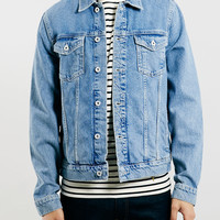 Light Wash Denim Western Jacket - Topman