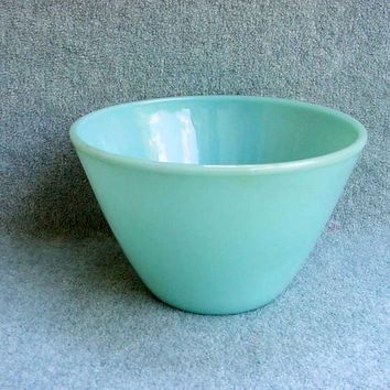 "Fire King Mixing Bowl Turquoise 7 3/4"" Anchor Hocking Oven Ware Vintage Kitchen 1940s 4 Available"