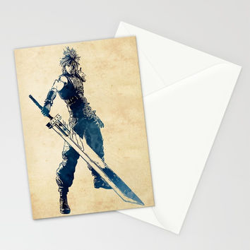 Cloud Strife Stationery Cards by naumovski
