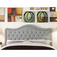 Moser Bay Furniture Adella Queen Size Linen Grey Waved Top Upholstery Headboard | Overstock.com Shopping - The Best Deals on Headboards