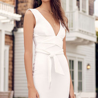 Glam Affair White Bodycon Dress