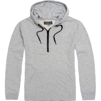 Modern Amusement Half Zip Hoodie - Mens Hoodies - White