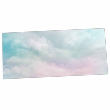 "Michelle Drew ""VIntage Clouds "" Pastel Nature Desk Mat"