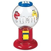 M&M's World Bubble Gum Machine Candy Dispenser New with Tags
