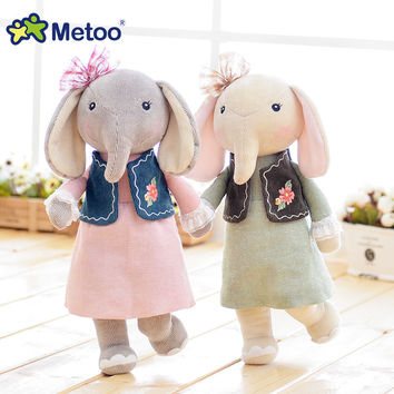 16 Inch Plush Sweet Cute Lovely Stuffed Baby Kids Toys for Girls Birthday Christmas Gift Elephant Metoo Doll