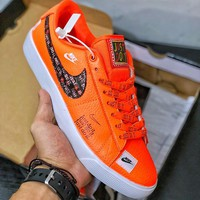 Nike SB Blazer Low GT 'Just Do It' Orange  - Best Deal Online