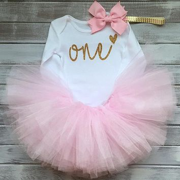 Baby Girl Clothes Sets Infant Clothing Suits Toddler Girl Birthday Outfits Tutu One Year Set Baby Product Gift for Newborn Bebes