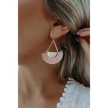 Island Girl Earrings: Pink/Gold