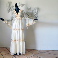 Vintage 70s Hippie Dress GORGEOUS 1970s Boho by elliemayhems