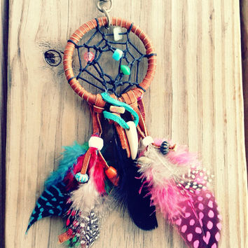 Bohemian Dreamcatcher Purse Charm, Keychain Charm, Car Mirror Ornament