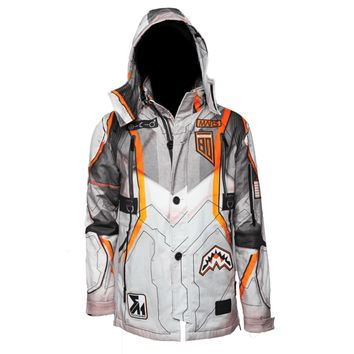 Sprayground - Mission to Mars: Shark Patches Parka (Buzz Aldrin Collab) - Orange