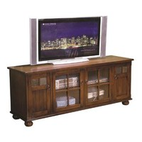 Sunny Designs 2704DC-TC Santa Fe TV Console In Dark Chocolate