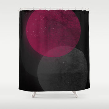 Seeing Spots (red planet) Shower Curtain by DuckyB (Brandi)
