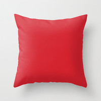 Amaranth Red Pillow, #D3212D, Solid Red Throw Pillow, Solid Red Pillow, Red Pillow, Modern Pillow, Minimalist Decor, Minimalist Pillow