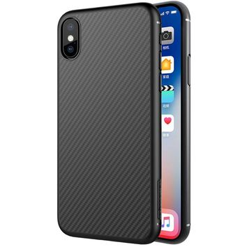 sFor Apple iPhone X Case NILLKIN High Quality Synthetic Carbon Fiber PP Plastic Hard Back Cover Case For iPhone X 10 iPhoneX 5.8