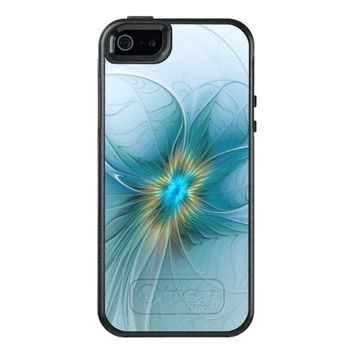 The little Beauty, Abstract Fractal Art with blue OtterBox iPhone 5/5s/SE Case